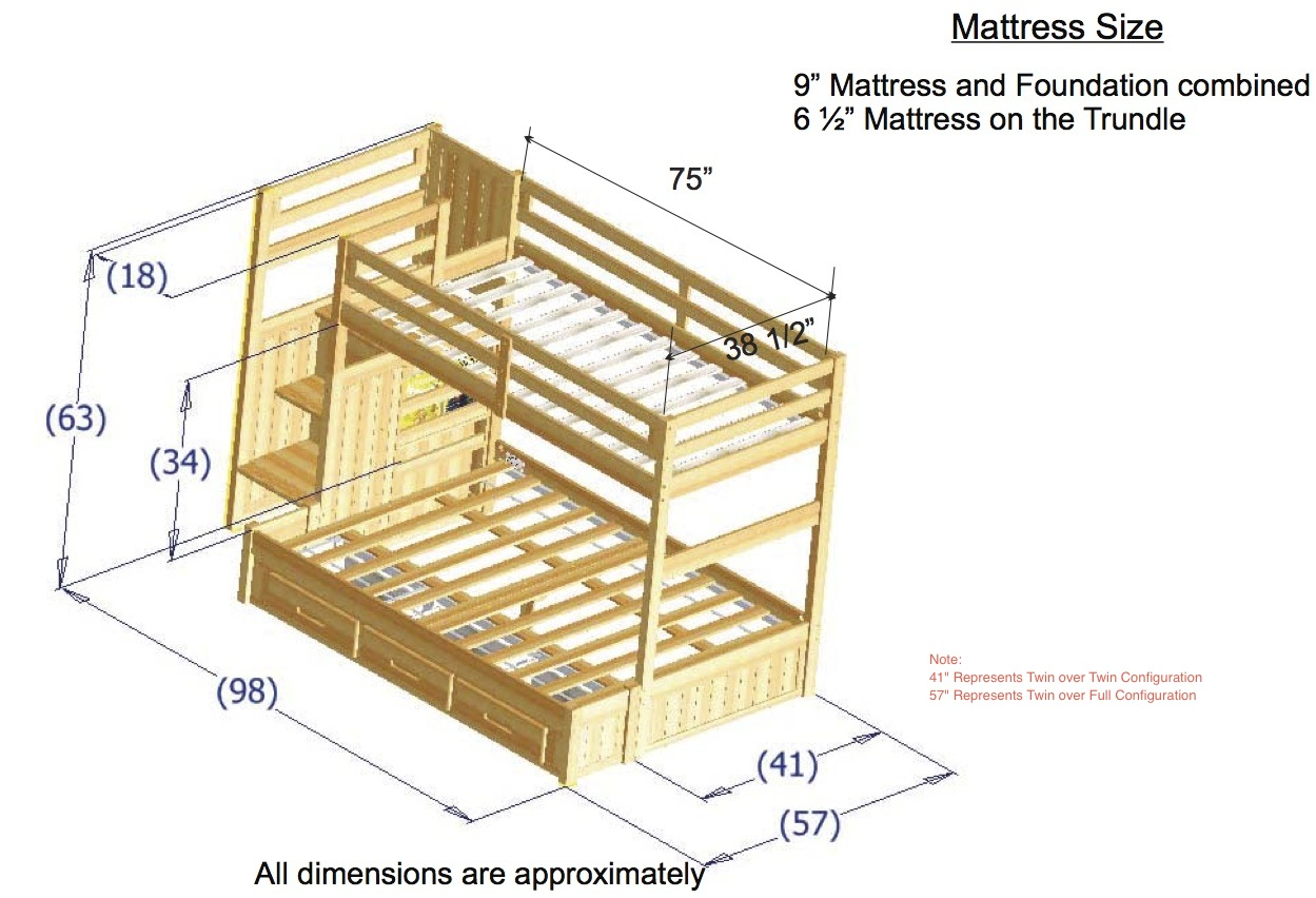 What S The Size Of A Bunk Bed Guide To Sizes Of Different Types Of Bunk Beds Shorty Bunk Bed Height 7 Pgs Q A