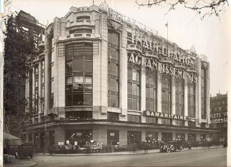 La nouvelle façade en verre d'Henri Sauvage côté Seine du Magasin 2 (1926-28). © Archives de la Samaritaine