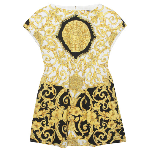 Primary image of Versace Cotton Baroque Dress