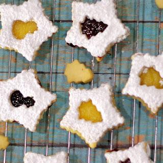 Lemon and Blackberry Shortbread Sandwiches