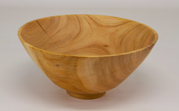 "Photo: Bob Grudberg 7"" x 5"" bowl [cherry] - donated for AAW Empty Bowls Program"