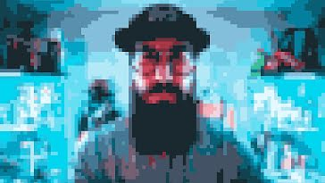 Pixelated Portrait - Zoom Background template