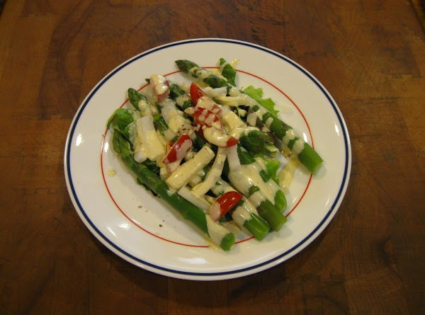 Asparagus Salad With Creamy Mustard Sauce Recipe