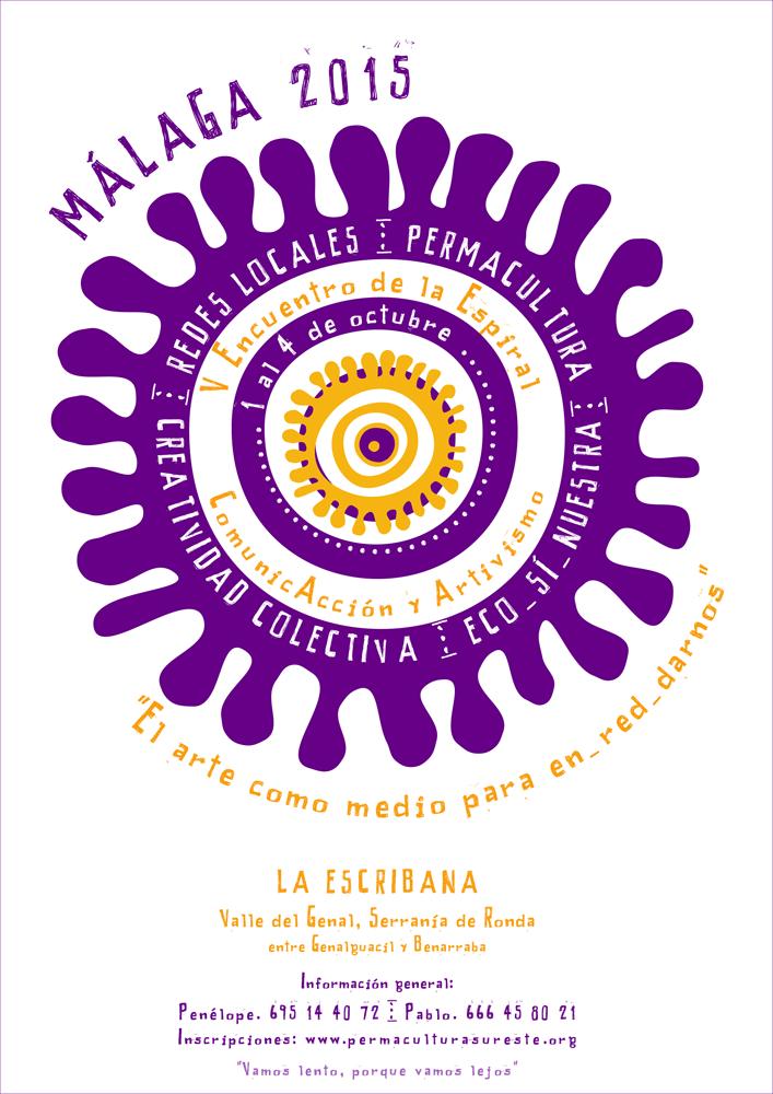 Cartel - V Encuentro de la Espiral - Sureste Ibérico en Transición - Comunicacción y Artivismo