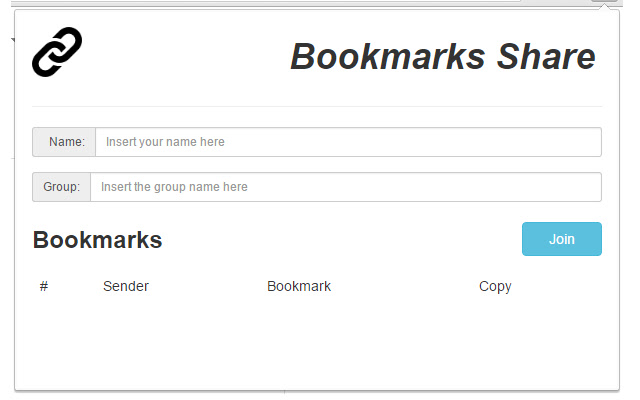 Bookmarks Share
