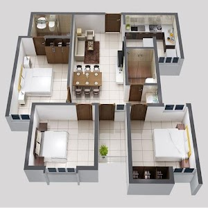 3d home designs layouts android apps on google play for How to design 3d house plans