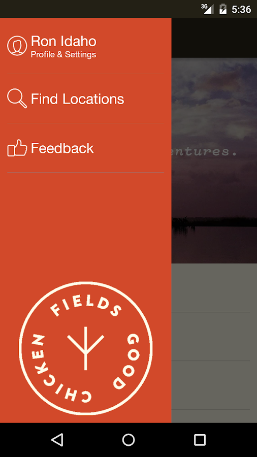 Fields Good Chicken Ordering- screenshot