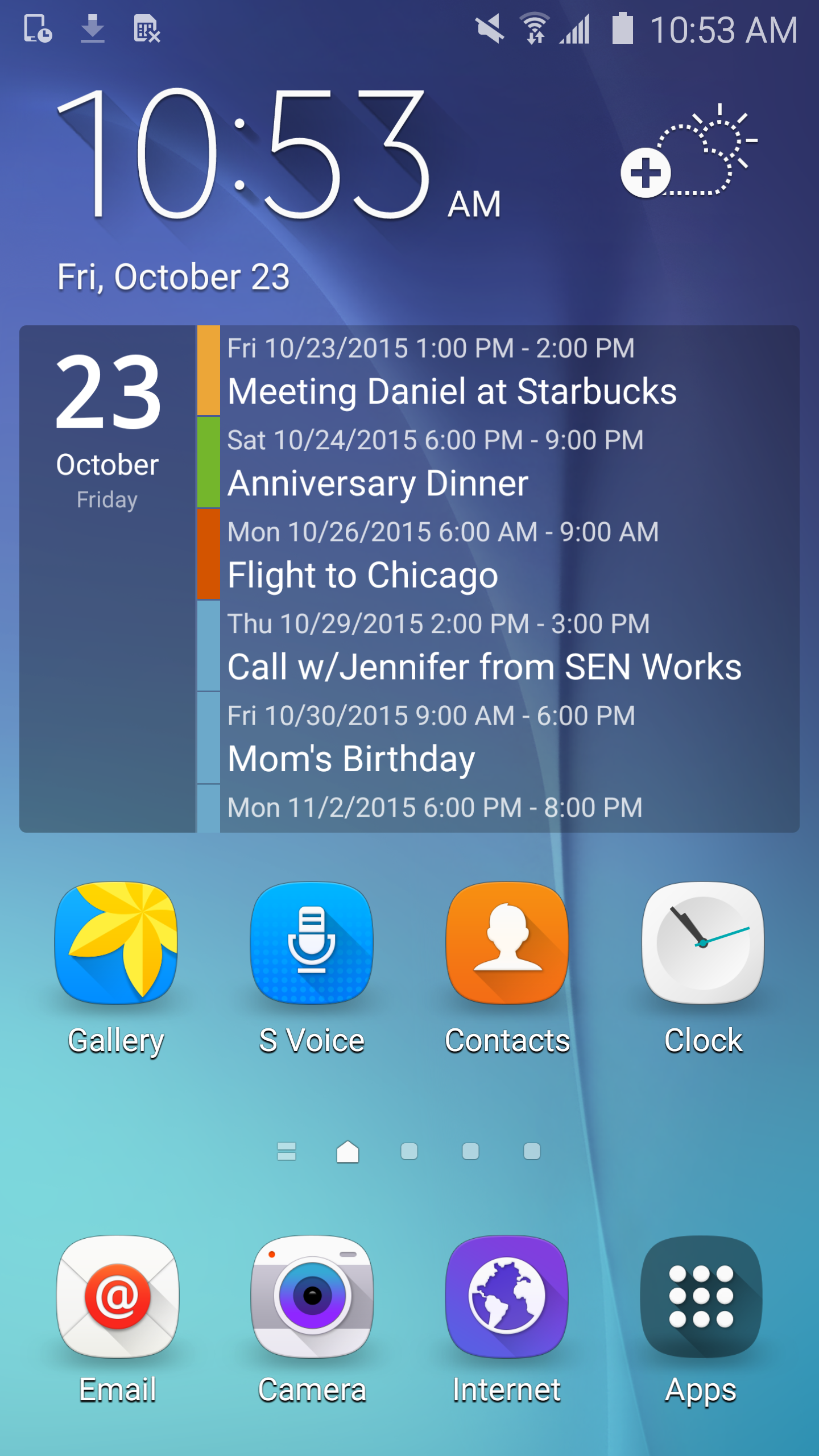 Clean Calendar Widget Pro screenshot #1