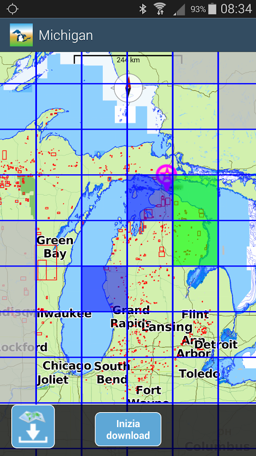 Aqua Map Michigan-Great Lakes- screenshot