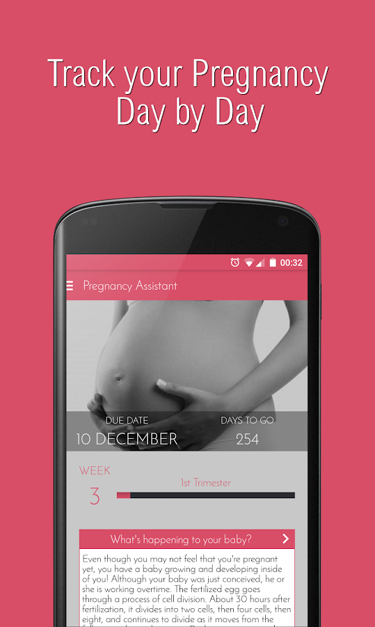 Pregnancy Assistant App- screenshot