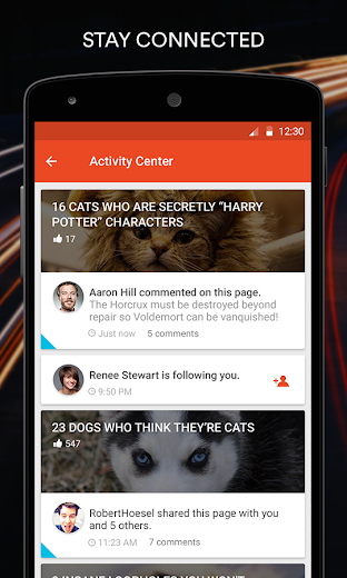 Screenshot 4 for StumbleUpon's Android app'