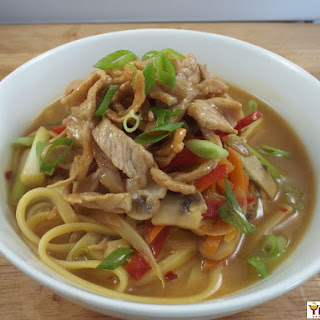 Asian Style Pork and Noodles.