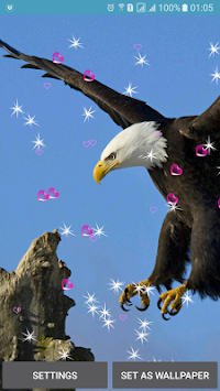 Eagle Live Wallpaper By 3D Top Poster