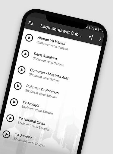 Lagu Sholawat Versi Sabyan Offline + Lirik 1.2 screenshots 2