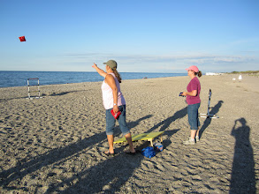 Photo: Bean Bag Toss - Joanne and Susan on Sandy Neck