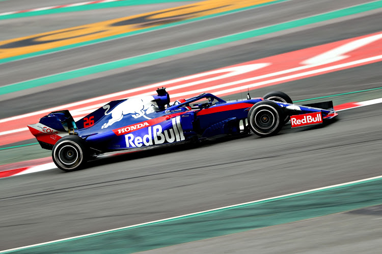 Daniil Kvyat driving the (26) Scuderia Toro Rosso STR14 Honda on track during day three of F1 Winter Testing at Circuit de Catalunya on February 20, 2019 in Montmelo, Spain.