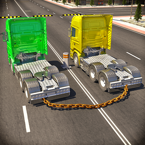 Chained Trucks against Ramp (game)