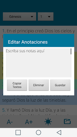 android Santa Biblia Español Screenshot 2