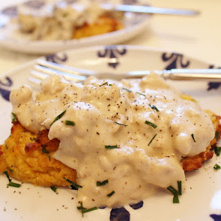 Butternut Squash Biscuits With Mushroom Gravy
