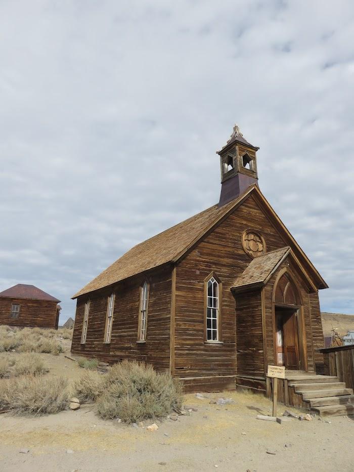 kerk spookstad in Amerika Bodie State Historic Park