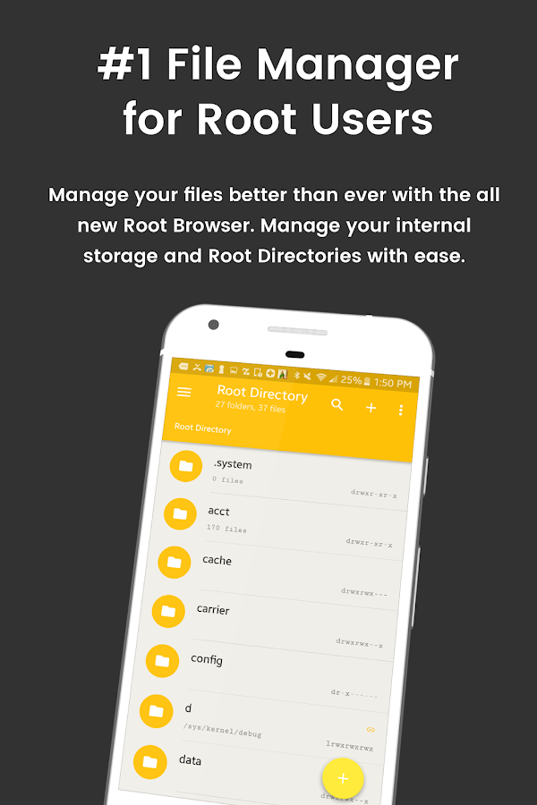 File Explorer Root Browser – zrzut ekranu
