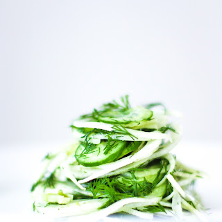 Shaved Fennel Salad with Cucumber and Dill Recipe