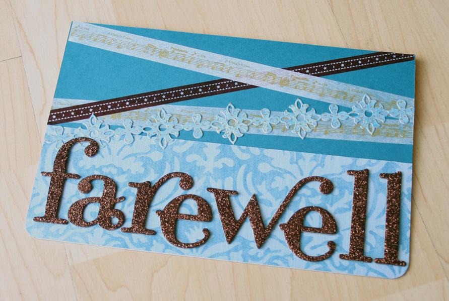farewell.card | Aasia commissioned this card for her colleag ...