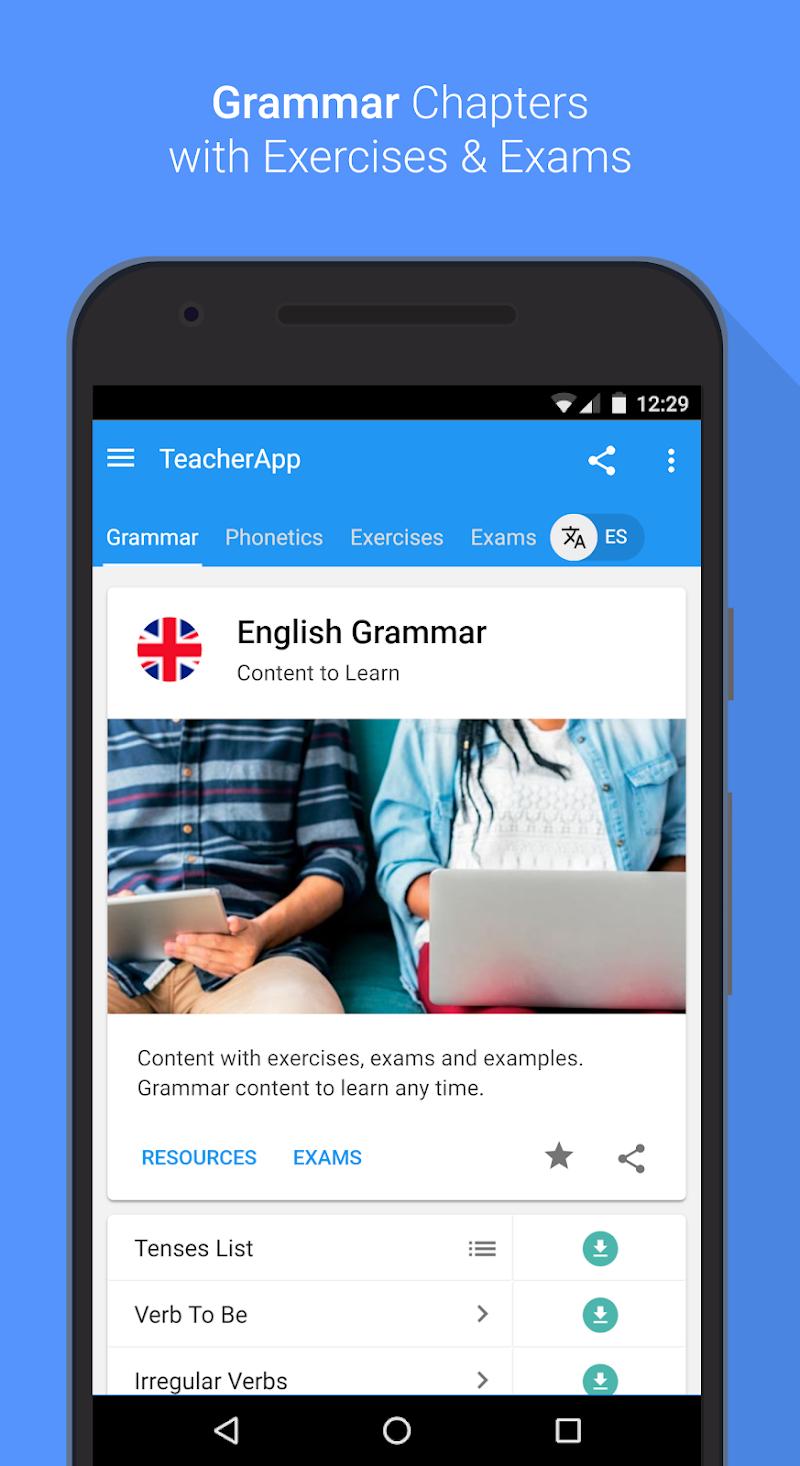 English Grammar & Phonetics Screenshot 0