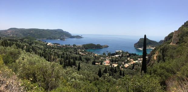 un des paysages de l'ile de Corfou Grèce