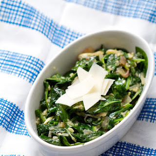 Garlic and Parmesan Sauteed Spinach
