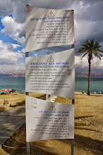 Photo: Be aware before jump in the Dead Sea!!
