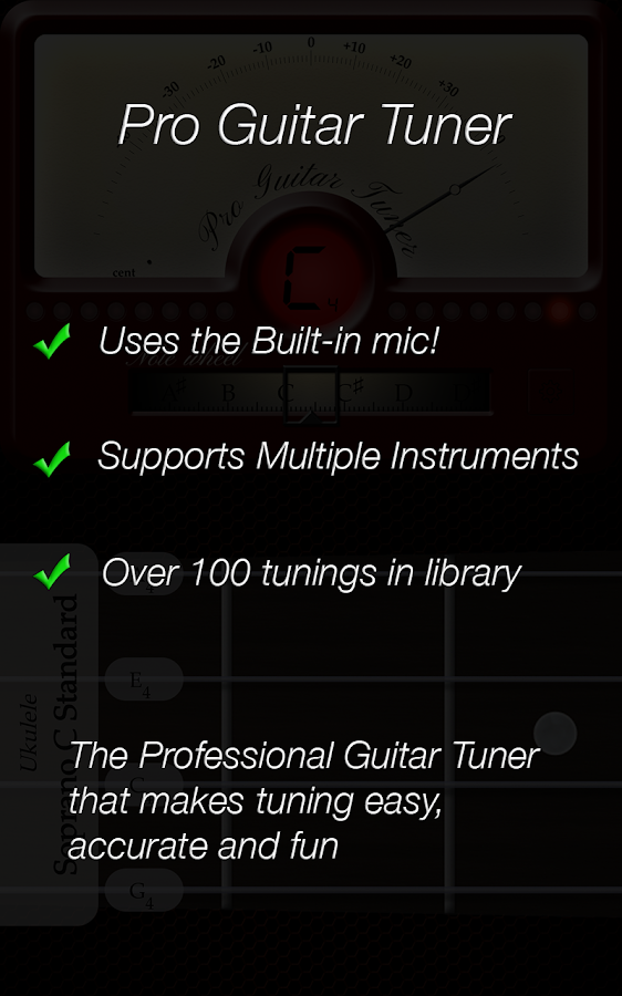 Pro Guitar Tuner- screenshot
