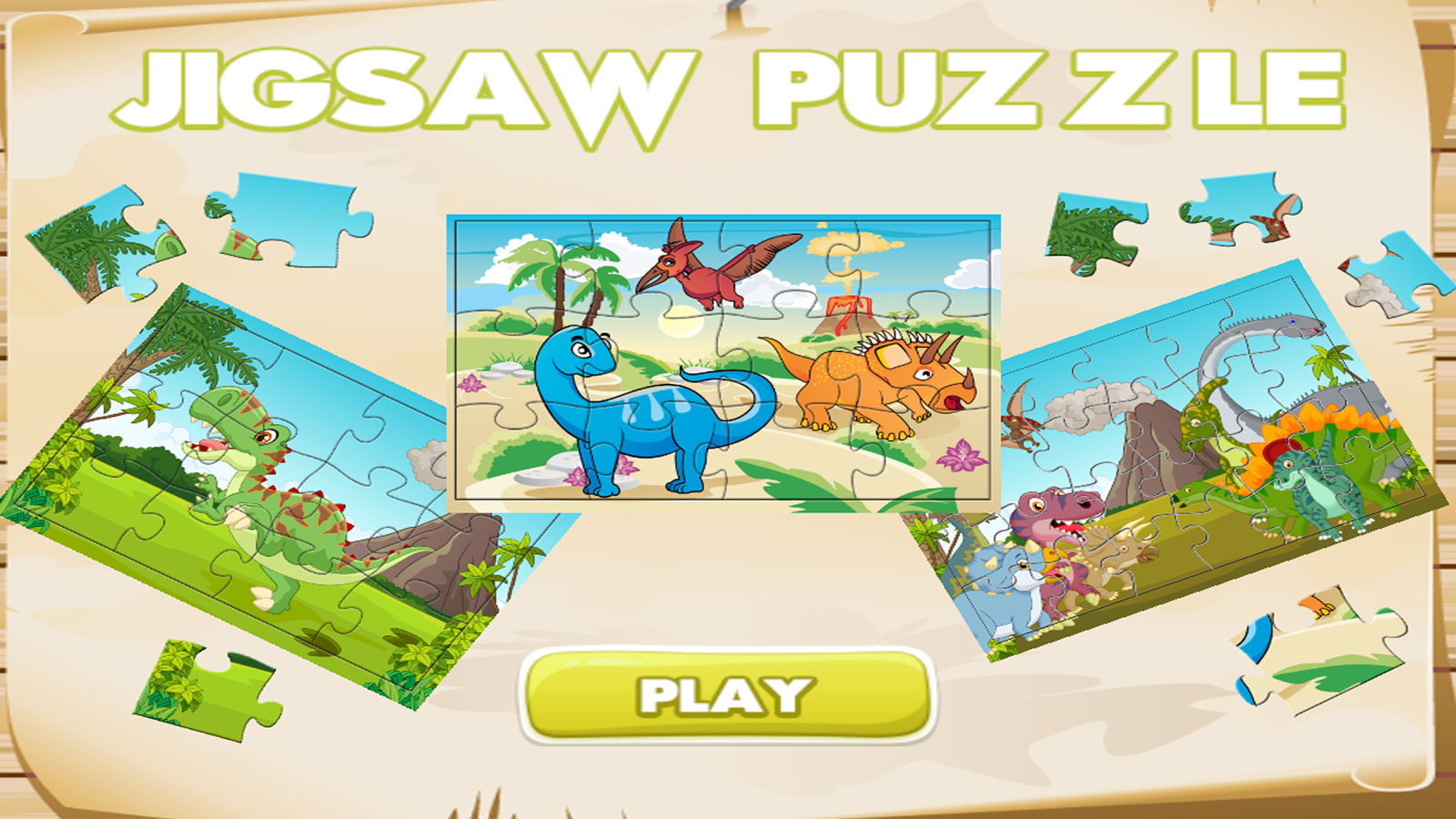 Dinosaur Jigsaw Puzzle Free For Kids- screenshot