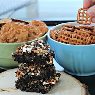 Sweet & Salty S'Mores Brownies.