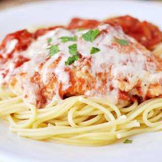 Skillet Chicken Parmesan.