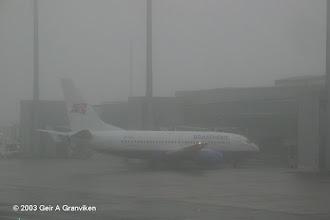 Photo: Braathens B737-700 at a foggy Oslo Airport, Gardermoen (OSL/ENGM)