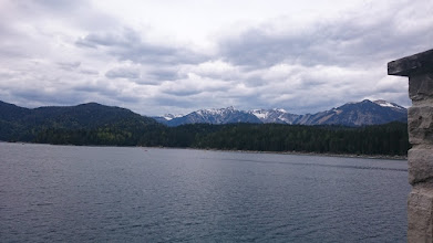 Photo: lake eibsee from the other side (zugspitze is behind me)