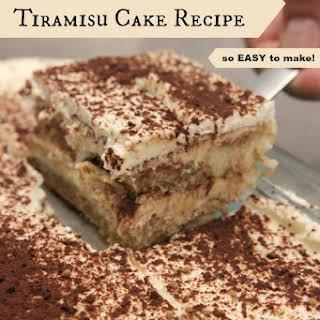 White Russian Tiramisu Cake.