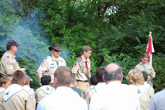 Photo: Presentation of Scout Rank