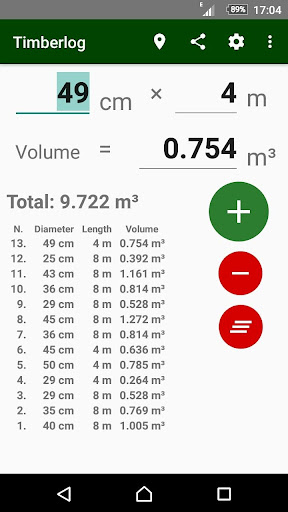 timberlog - timber log volume calculator screenshot 3