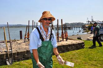 Photo: Don - serving salmon