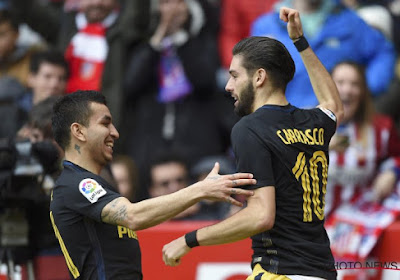 Carrasco en Gameiro trappen Atlético voorbij Sporting Gijon