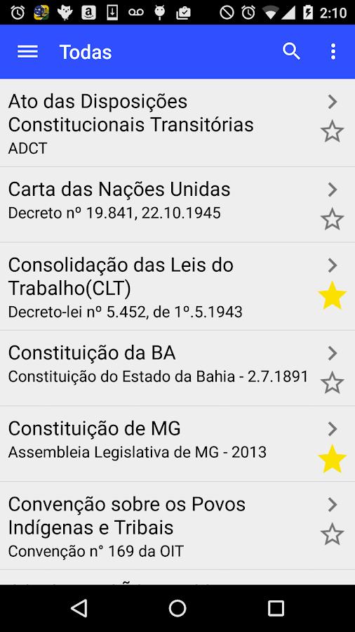 Screenshots of Vade Mecum Juridico - Legis for iPhone