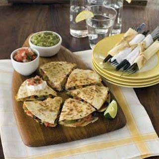 Roasted Vegetable and Black Bean Quesadillas