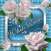 White Roses Go Launcher theme