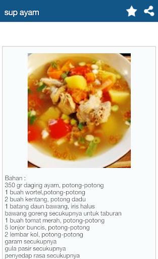 Resep Sup Pilihan screenshot