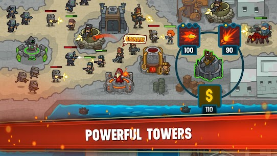 Steampunk Defense: Tower Defense Apk Download For Android and Iphone 7