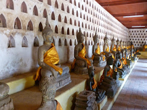 Photo: Wat Sisaket houses over 7,000 images of Buddha.  There are two more in each of the little alcoves.