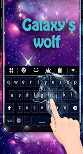 sparkle of the galaxy's wolf Keyboard theme - náhled