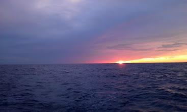 Photo: Sunset over the Keys as C'est la Vie enters the Gulf Stream